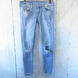 American Eagle Super Low Jegging Jeans Ripped
